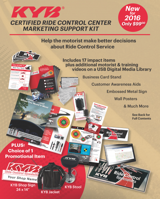 KYB CERTIFIED RIDE CONTROL CENTER   UnderCar Plus, Inc